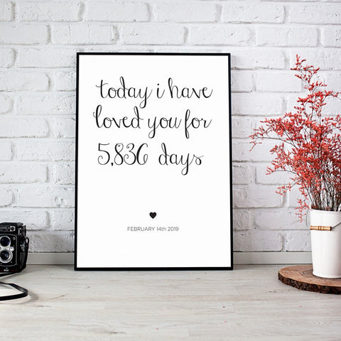 I HAVE LOVED YOU PRINT