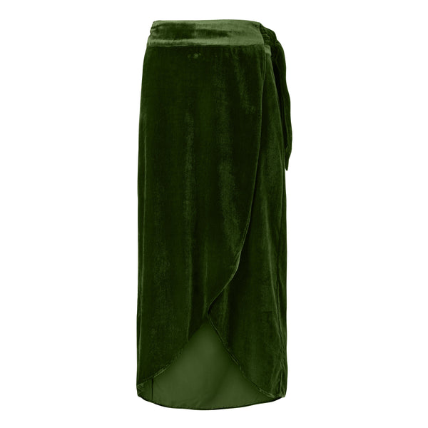 Wrap-around skirt in velvet - BAZIS