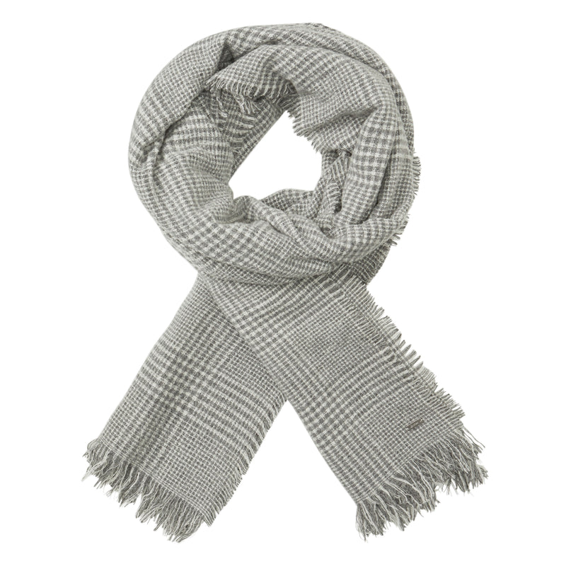 Checked wool scarf - BAZIS