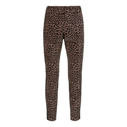 Stretch animal printed velvet trousers - BAZIS
