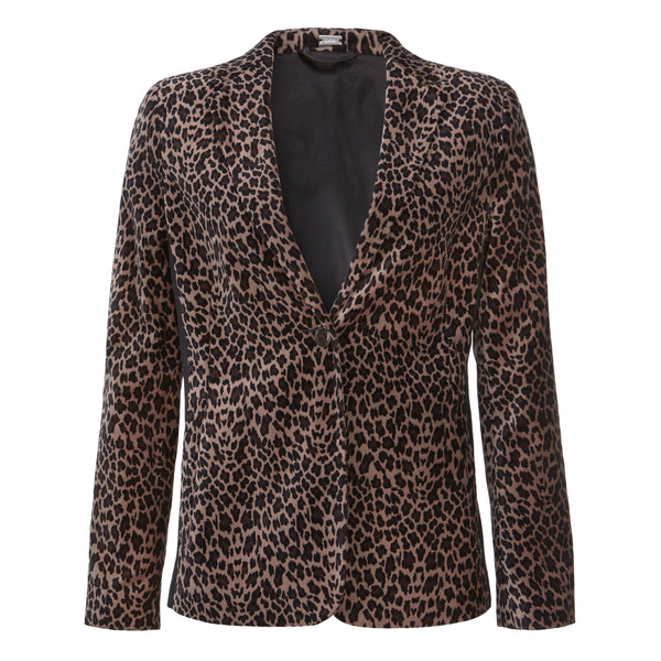 Stretch animal printed velvet jacket - BAZIS