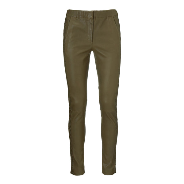 Stretch lamb leather pants - BAZIS