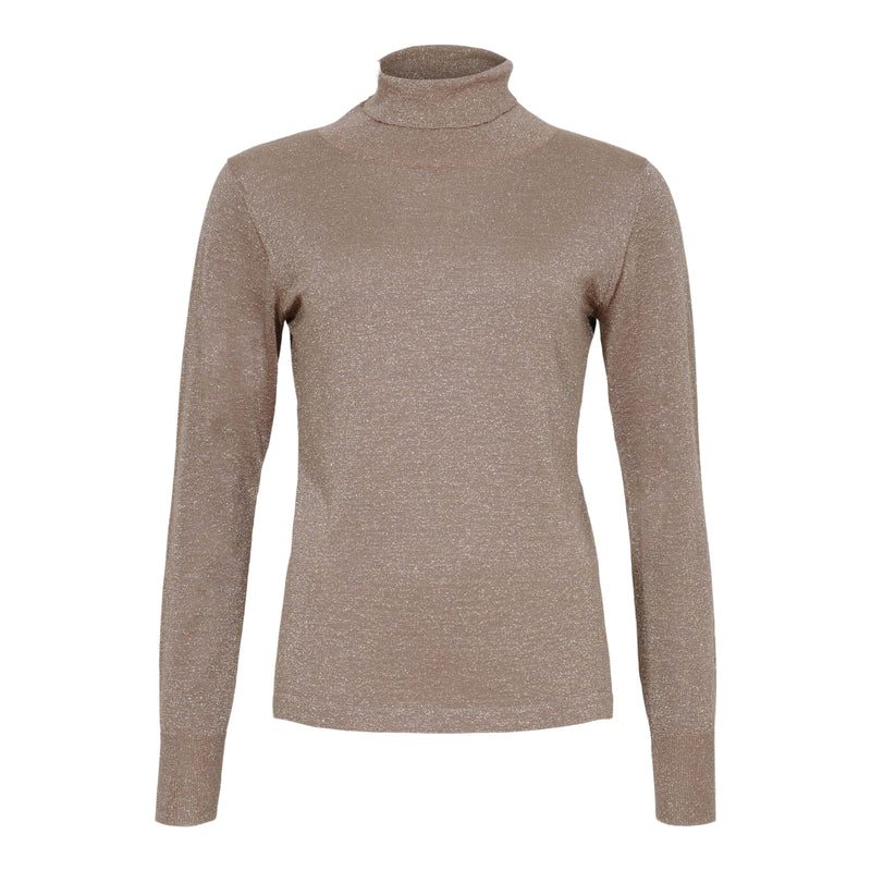 Lurex turtle neck pullover - BAZIS