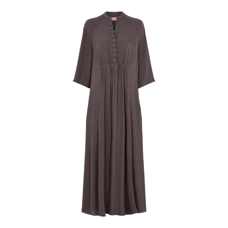Hali Long brown dress - BAZIS
