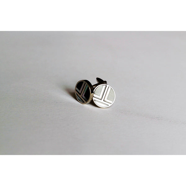 Graphic cufflinks - BAZIS