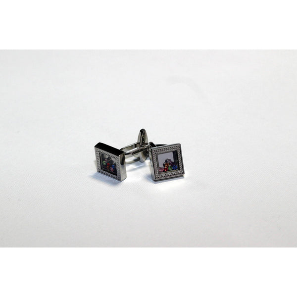Cufflinks with loose crystals - BAZIS