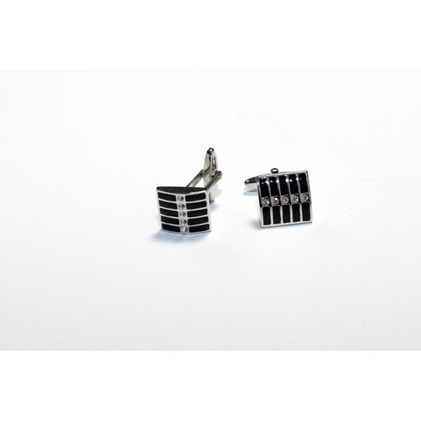 Striped cufflinks - BAZIS