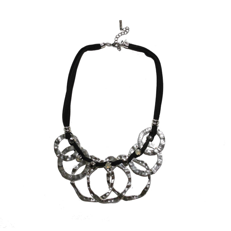 Black and silver necklace - BAZIS