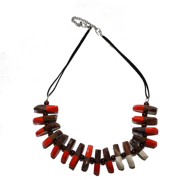Wood necklace - BAZIS