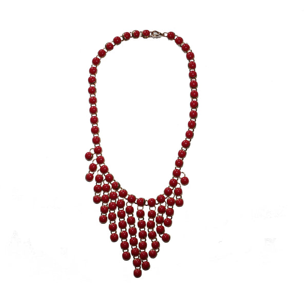 Red necklace - BAZIS