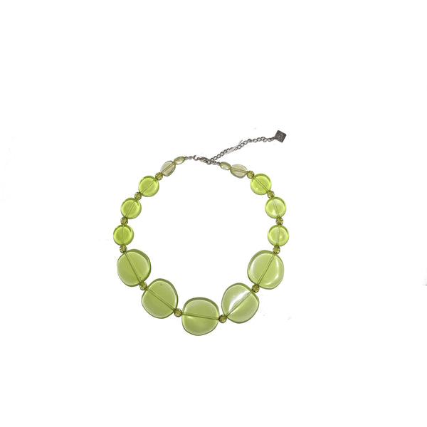 Light green necklace - BAZIS