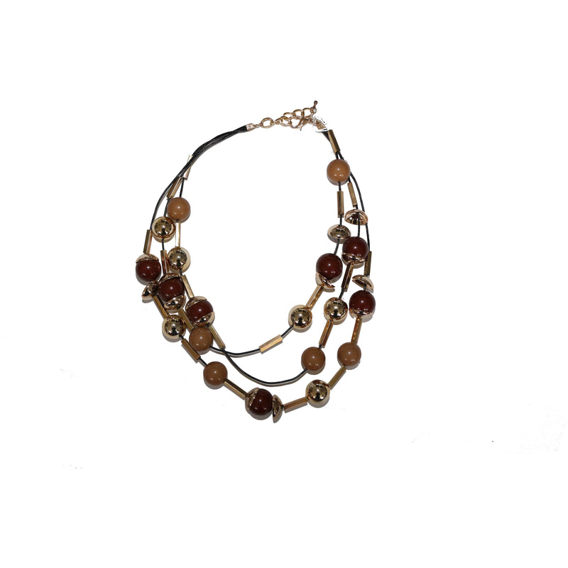 Brown necklace - BAZIS