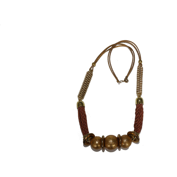 Massive brown necklace - BAZIS