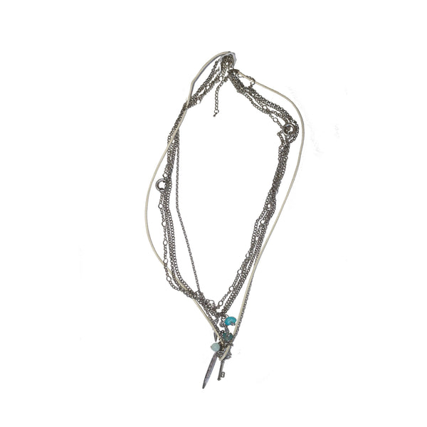 Long metal necklace - BAZIS
