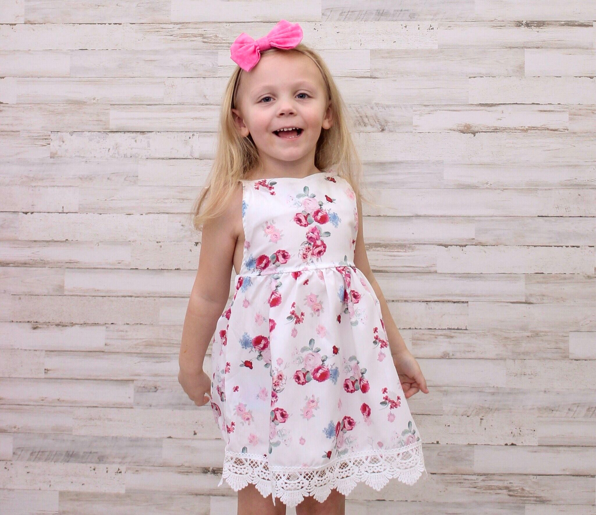 Beautiful Baby Girls Boutique Floral Lace Spring Dress