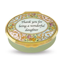 "Load image into Gallery viewer, Halcyon Days ""Wonderful Daughter"" Enamel Box"