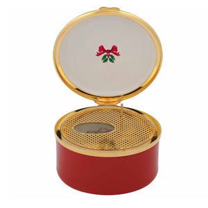 "Halcyon Days ""O Come All Ye Faithful - Vintage Christmas Tree"" Musical Box"