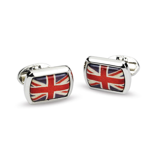 Halcyon Days Union Jack Rectangular Cufflinks