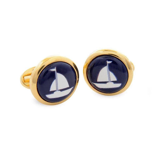 Halcyon Days Sailing Boat Cufflinks