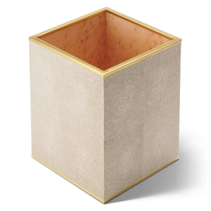 AERIN Classic Shagreen Waste Basket - Wheat