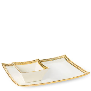 AERIN Mayotte Chip and Dip Set - Gold