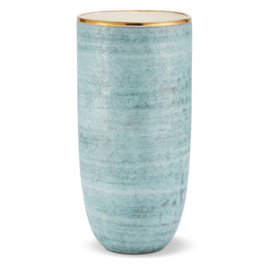 AERIN Calinda Tall Vase - Blue Grotto
