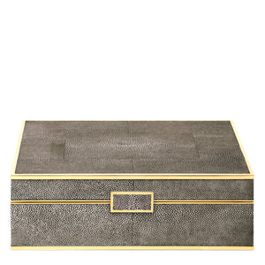 AERIN Classic Shagreen Large Jewelry Box - Chocolate
