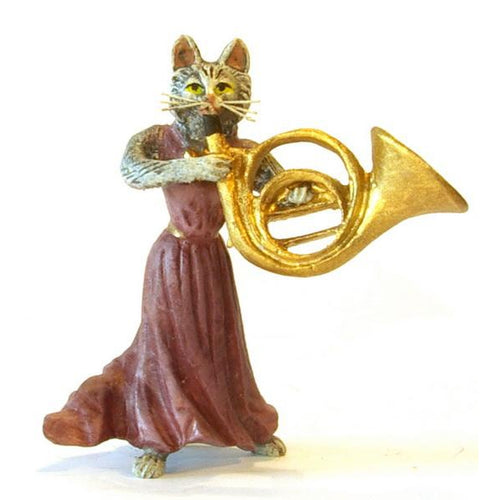Cat Lady Horn Vienna Bronze Figurine