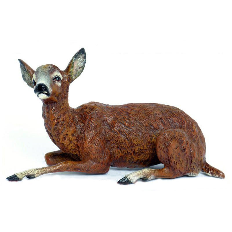 Deer Lying Vienna Bronze Figurine
