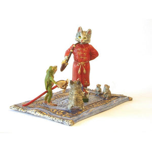 Animals On A Carpet With Gifts Vienna Bronze Figurine