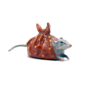 Mouse In Cloth Vienna Bronze Figurine