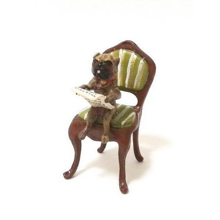 Pug Chair / News Vienna Bronze Figurine