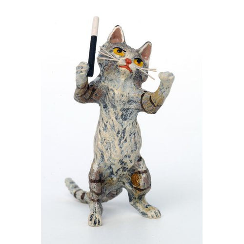 Cat Conductor Vienna Bronze Figurine