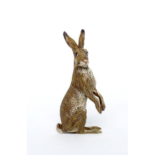 Rabbit Standing Upright Vienna Bronze Figurine