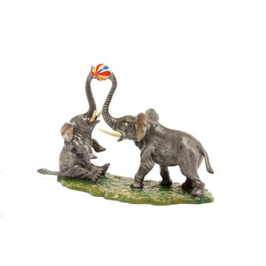 Elephants Playing Ball Vienna Bronze Figurine