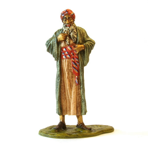 Arab Standing With A Long Coat Vienna Bronze Figurine