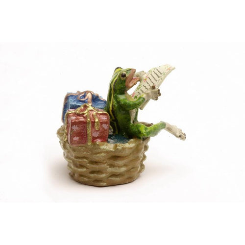 Frog With Gifts Vienna Bronze Figurine