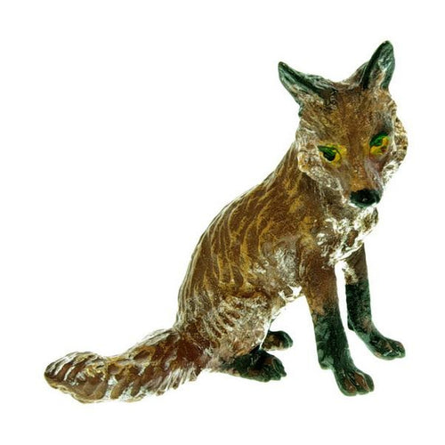 Fox Sitting Med. Vienna Bronze Figurine