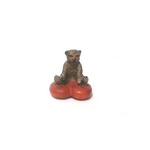 Bear On Heart-Cushion Vienna Bronze Figurine