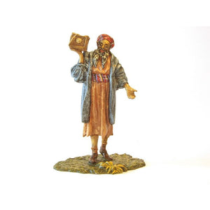 Arab Standing With Treasure Casket Vienna Bronze Figurine