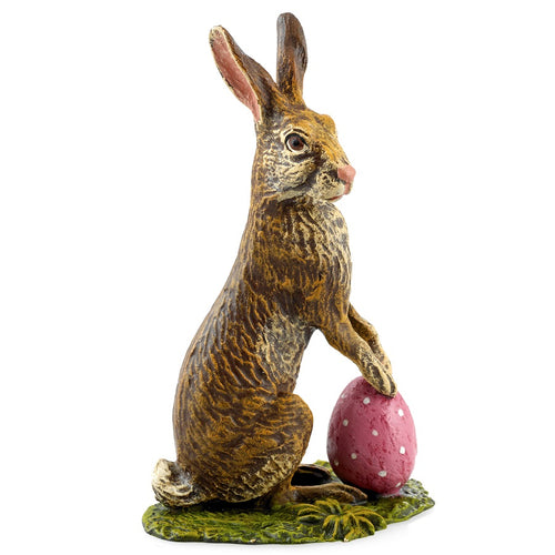Rabbit With Easter Egg / Meadow Vienna Bronze Figurine