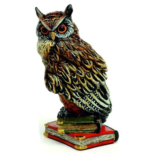 Owl On 2 Books / Med. Vienna Bronze Figurine