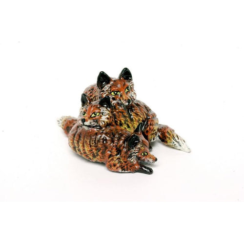 Heap Of Foxes Vienna Bronze Figurine