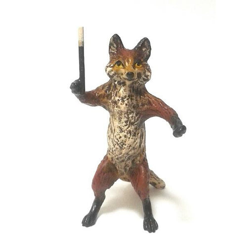 Fox Conductor Vienna Bronze Figurine