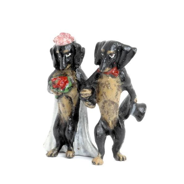 Dachshund Wedding Couple Vienna Bronze Figurine