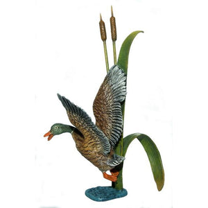 Duck In Reed Vienna Bronze Figurine