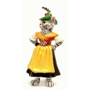 Cat Lady Tyrolean Dress Vienna Bronze Figurine