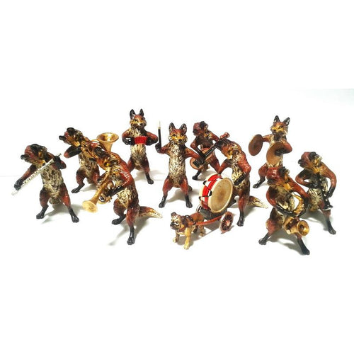 Fox Orchestra (10 Pc) Vienna Bronze Figurine