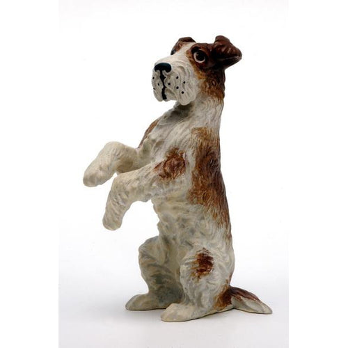 Irish Terrier, Sitting Upright Vienna Bronze Figurine