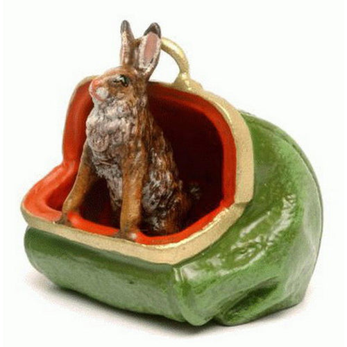 Rabbit In Bag Vienna Bronze Figurine